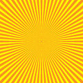 Yellow-orange rays of light in radial arrangement. Sunshine beams theme. Abstract background pattern. Vector Royalty Free Stock Photo