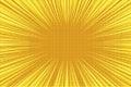 Yellow orange rays pop art retro vintage background Royalty Free Stock Photo