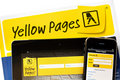 Yellow Pages Online Royalty Free Stock Photo