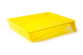 Yellow paint tray isolated on black background Royalty Free Stock Photography