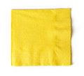 Yellow paper napkin Royalty Free Stock Photo