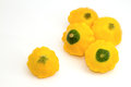 Yellow patty pan custard marrow fresh vegetable Royalty Free Stock Image