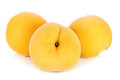 Yellow peach isolated on the white background Royalty Free Stock Photo