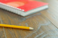 Yellow pencil stationary reminder Royalty Free Stock Photo