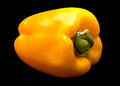 Yellow pepper on black vegetable isolated background Royalty Free Stock Photos