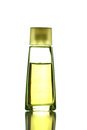 Yellow perfume bottle isolated on white background Stock Image