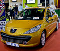 Yellow Peugeot 207 XS 1.6 HDi Stock Photo