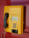 Yellow phone Royalty Free Stock Image