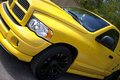 Yellow pick up truck bright american Royalty Free Stock Photography