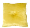 Yellow pillow Stock Image