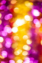 Yellow and pink bokeh background Royalty Free Stock Photos