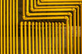Yellow Pipes Royalty Free Stock Photo