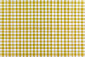 Yellow plaid fabric a background texture of Royalty Free Stock Photography