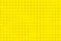 Yellow plastic board with dotted line like as graph paper magnetic black checkered lines or millimeter horizontal background space Stock Photos
