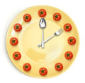 Yellow plate. isolated Royalty Free Stock Photography