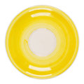 Yellow plate isolated on white background Stock Images