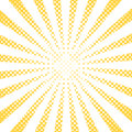 Yellow pop art rays, vector background