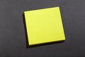 Yellow post it block note Royalty Free Stock Image