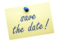 Save the Date Note Royalty Free Stock Photo