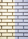 Yellow and Purple Bricks Royalty Free Stock Photography