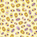 Yellow Purple Seamless Abstract Pattern Stock Image