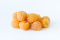 Yellow raspberries macro Royalty Free Stock Photo