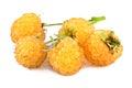 Yellow raspberry on white Royalty Free Stock Photo