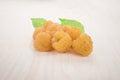Yellow raspberry Royalty Free Stock Photo