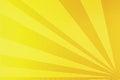 Yellow rays comic pop art background