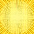 Yellow rays pop art background. retro vector illustration Royalty Free Stock Photo