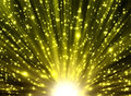 Yellow rays and stars Royalty Free Stock Photo