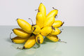 Yellow real banana in close up Royalty Free Stock Photo