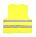 Yellow recue vest isolated on white background Royalty Free Stock Photography