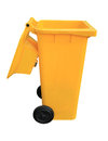 Yellow recycle bin Royalty Free Stock Photos