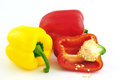 Yellow and red bell peppers Royalty Free Stock Photography