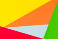 Yellow, red, green, blue and orange color paper background