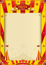 Yellow and red grunge circus poster Royalty Free Stock Photo