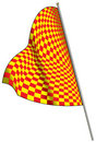 Yellow-red racing flag. Stock Photography