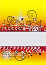 Yellow Red Vector Background Stock Images