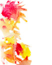 Yellow and red watercolor stains background Royalty Free Stock Photo