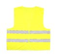 Yellow rescue vest recue isolated on white background Stock Photos