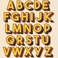 Yellow Retro Colorful Typography Design