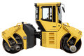 Yellow road roller. Royalty Free Stock Photo