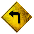 Yellow road sign Stock Photo