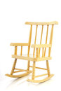 Yellow rocking chair Royalty Free Stock Photo