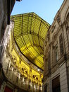 Yellow roof photo made ​​in the romanian capital bucharest villacrosse passage Stock Photography