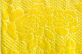 Yellow rose on blanket texture the Royalty Free Stock Images