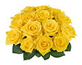 Yellow rose bouquet cutout Royalty Free Stock Photo