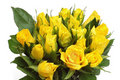 Yellow roses bouquet Royalty Free Stock Photo