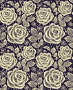 Yellow roses lace seamless pattern.